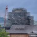 市役所14階ロビーから大天守閣(2018-04-15)
