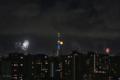 [東京][夜景][花火][月]隅田川花火大会とスカイツリーと月(2018-07-29)