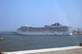 [福岡][船]博多港のMSCスプレンディダ号(2018-06-09)