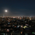 [月][東京][夜景][空]満月の夜(2018-08-26)