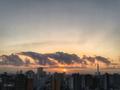 [空][雲][東京][逆光][朝][日の出]日の出(2018-10-09)
