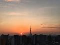 [空][雲][東京][逆光][朝][日の出]2018-10-25