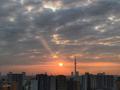 [空][雲][東京][逆光][朝][日の出]2018-10-26