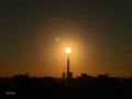 [東京][朝][太陽][逆光][朝焼け]スカイツリーと太陽(2018-10-30)