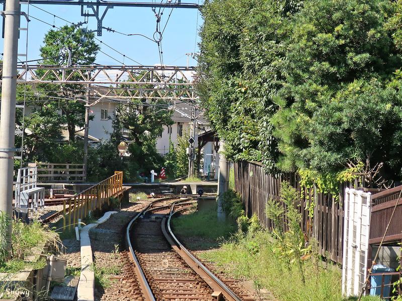 江ノ電の線路(2018-09-28)