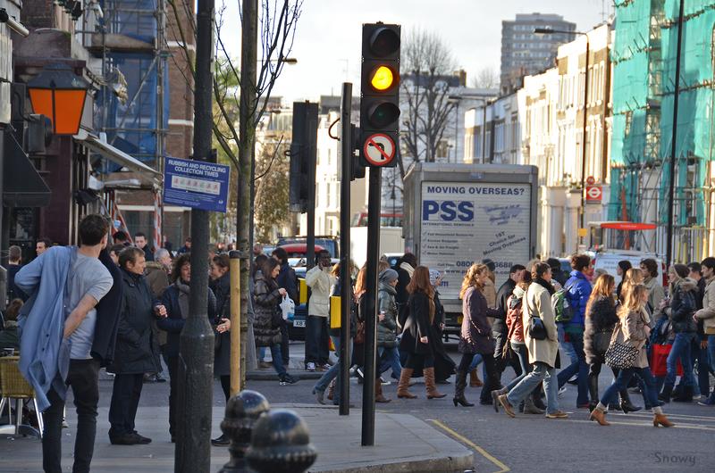 Portobello Road と Westbourne Park Road の交差点(2011-12-03)