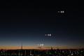 [東京][空][星][夜景]金星・木星・水星(2018-12-30)
