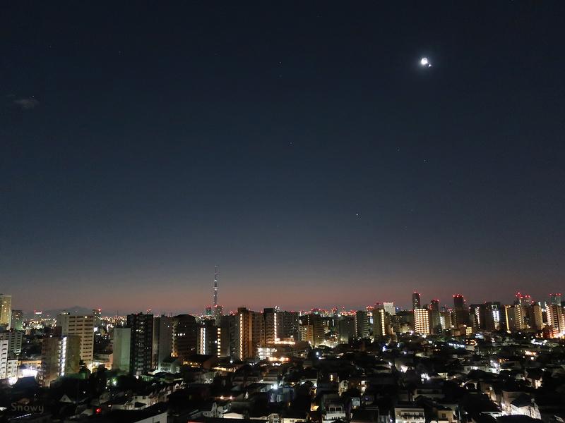 [月][東京][夜景][空]
