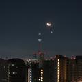 [月][東京][夜景][空]月と金星とスカイツリー(2019-02-02)