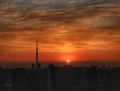 [空][雲][東京][朝][日の出]2019-01-17 06:57