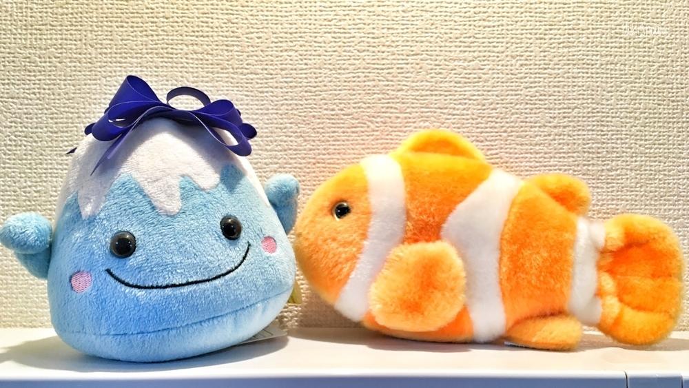 ぬいぐるみオフ―ふじちゃん&クマノミ
