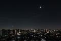 [星][空][雲][東京][朝]月と金星と木星(2019-01-31 05:26)