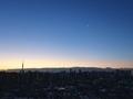 [星][月][空][雲][東京][朝]月と金星と木星(2019-02-01 06:18)