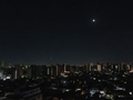[星][空][雲][東京][朝]夜明けの月と金星と木星 2019-01-30 04:04