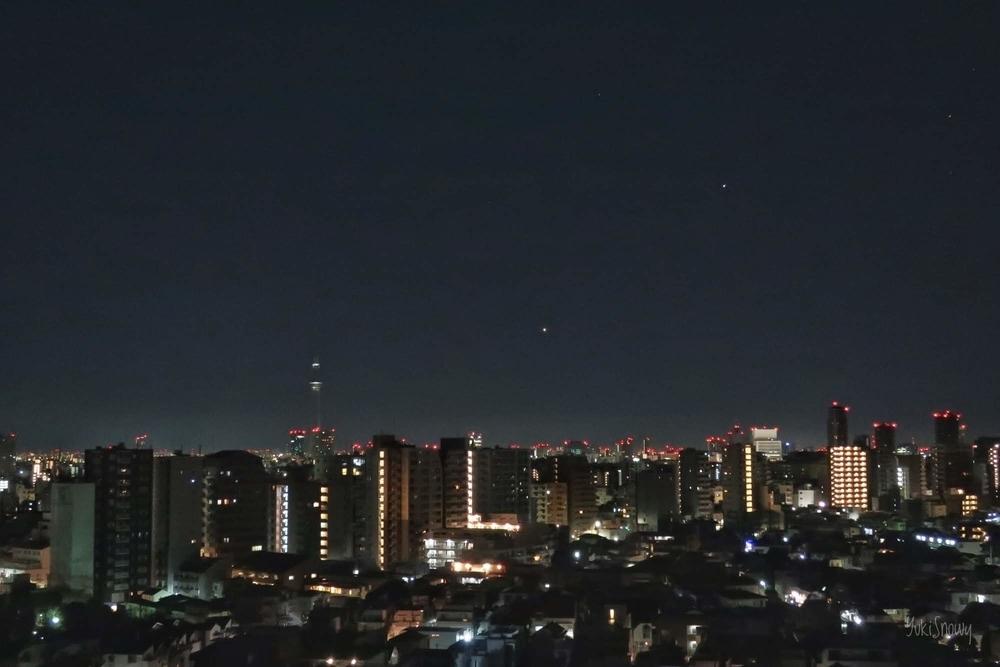 夜明けの金星と木星 2019-02-02 04:15