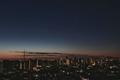 [星][月][空][雲][東京][朝]月と金星と木星(2019-02-03 05:56)