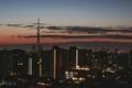 [月][空][雲][東京][朝]二十八日月とスカイツリー 2019-02-03 06:57