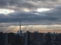 [天使の梯子][逆光][空][雲][東京][朝]2019-02-04 07:36