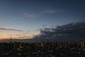 [星][空][雲][東京][朝]金星と土星とスカイツリー(2019-02-21 05:51)
