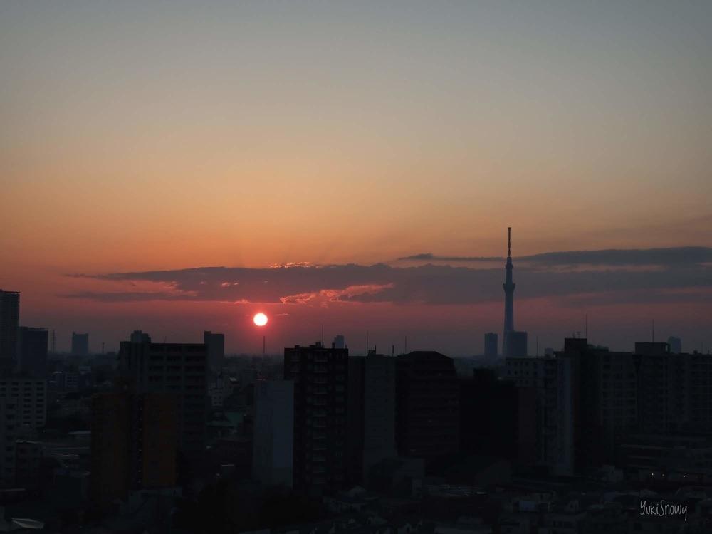 日の出(2019-03-02 06:19)