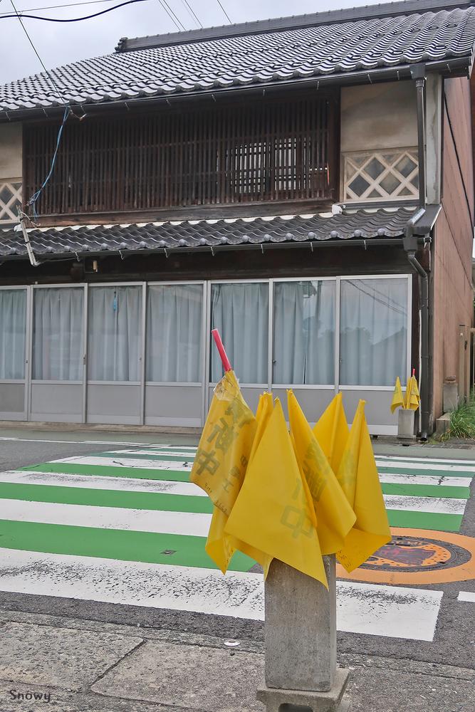 旗がある横断歩道(2018-05-30)