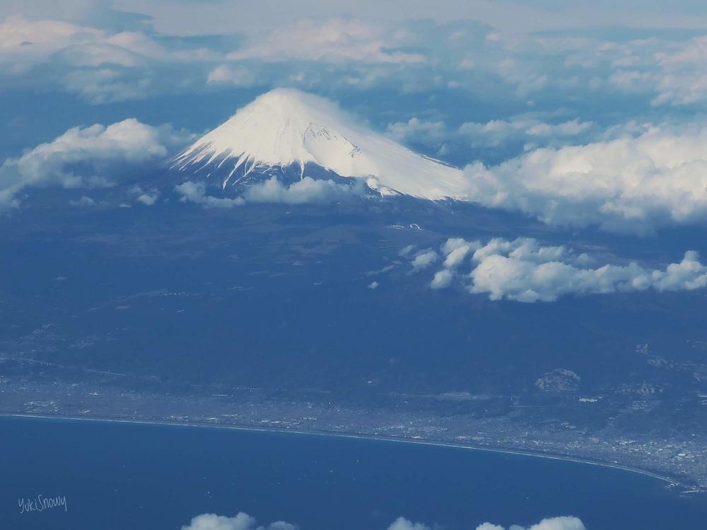 飛行機から見た富士山(2019-03-11 14:01)