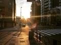 [空][雲][東京][夕暮れ][黄昏]新大橋交差点@江東区(2019-04-16 17:35)