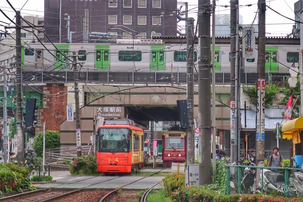 都電荒川線と山手線@大塚駅(2019-05-20)