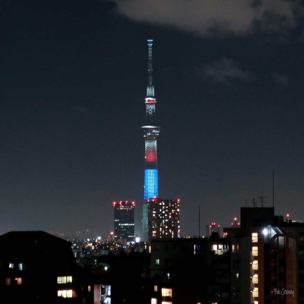 東京スカイツリー特別ライティング(2019-08-12 22:24)