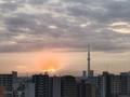 [空][雲][東京][朝][日の出](2019-10-24 06:01)