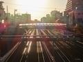 [東京][線路][夕焼け]駒込橋から(2019-11-12 15:51)