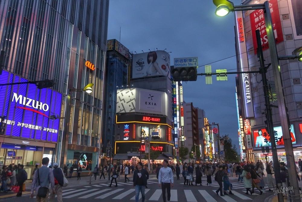 夜の始まり@新宿(2019-11-03 16:40)