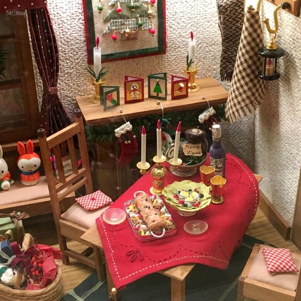 クリスマスハウス:ダイニングテーブル