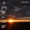 [Instaweather]WeatherShot(2019-11-21)