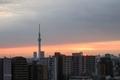 [空][雲][東京][朝][日の出](2019-12-09 06:39)