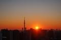 [空][雲][東京][朝][日の出](2020-01-20 06:55)
