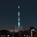 [東京][夜景]『FINAL FANTASY Ⅶ REMAKE』コラボ限定魔晄の色(2020-02-11 18:48)
