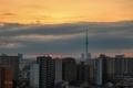 [日の出][空][雲][東京][朝](2020-02-21 06:26)