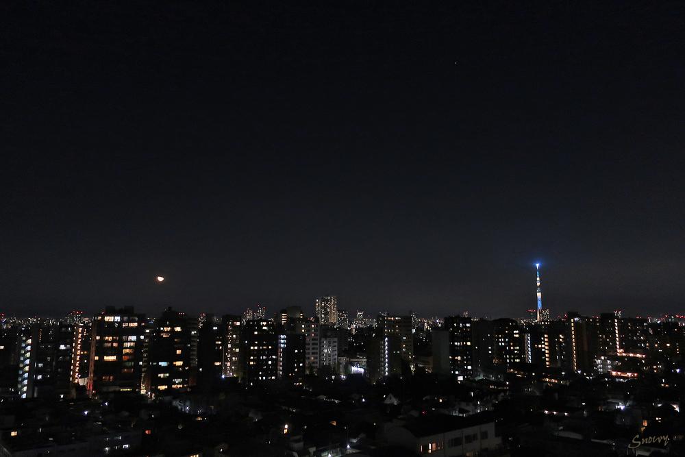 月齢21の月(2020-12-06 22:11)