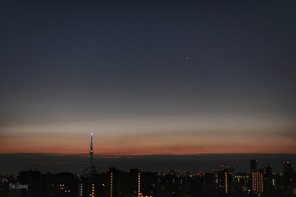 明けの明星(2020-12-07 05:59)