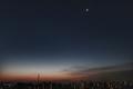 [星][月][空][雲][東京][朝]明けの明星と月(2020-12-11 06:00)