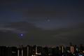 [星][月][空][雲][東京][朝]明けの明星と月(2020-12-13 05:55)