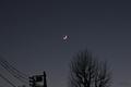 [星][月][空][雲][東京]木星と土星と月(2020-12-17 17:04)