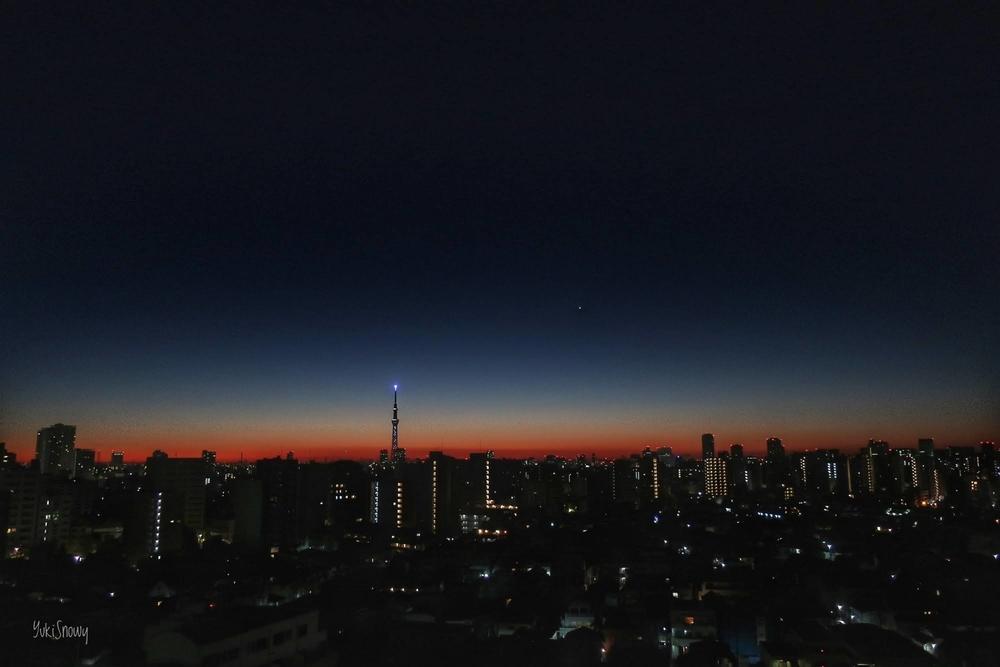 明けの明星(2020-12-18 05:57)