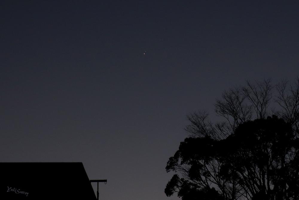 木星と土星(2020-12-21 17:05)