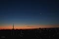 [月][星][空][雲][東京][朝]有明月(27.21)と明けの明星(2021-01-11 06:18)