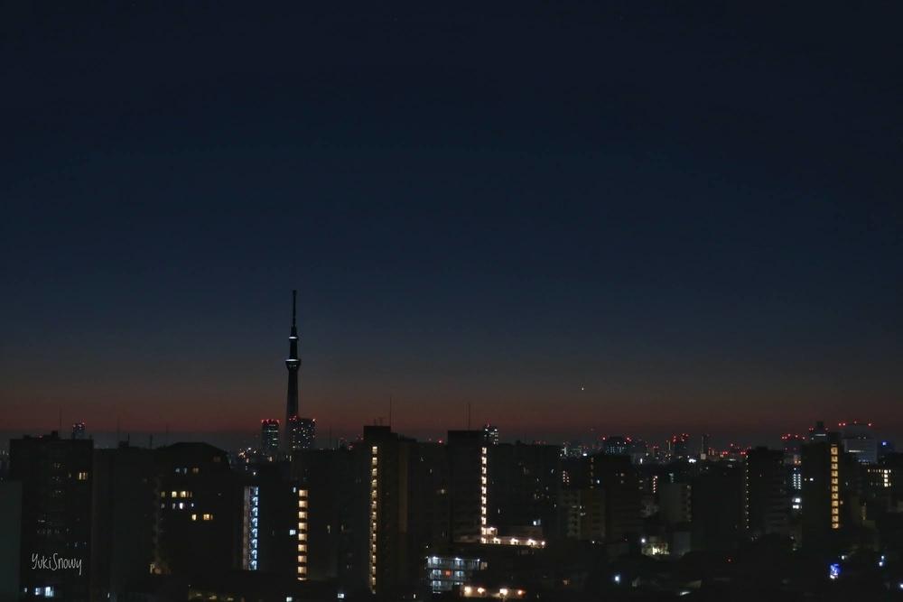 明けの明星(2021-01-13 05:55)