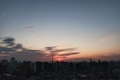 [日の出][空][雲][東京][朝][大気光学現象]太陽柱(2021-01-22 06:50)