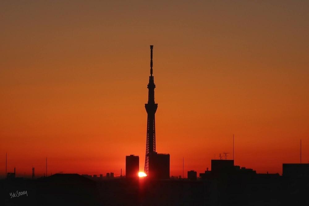 立春の日の出(2021-02-03 06:40)