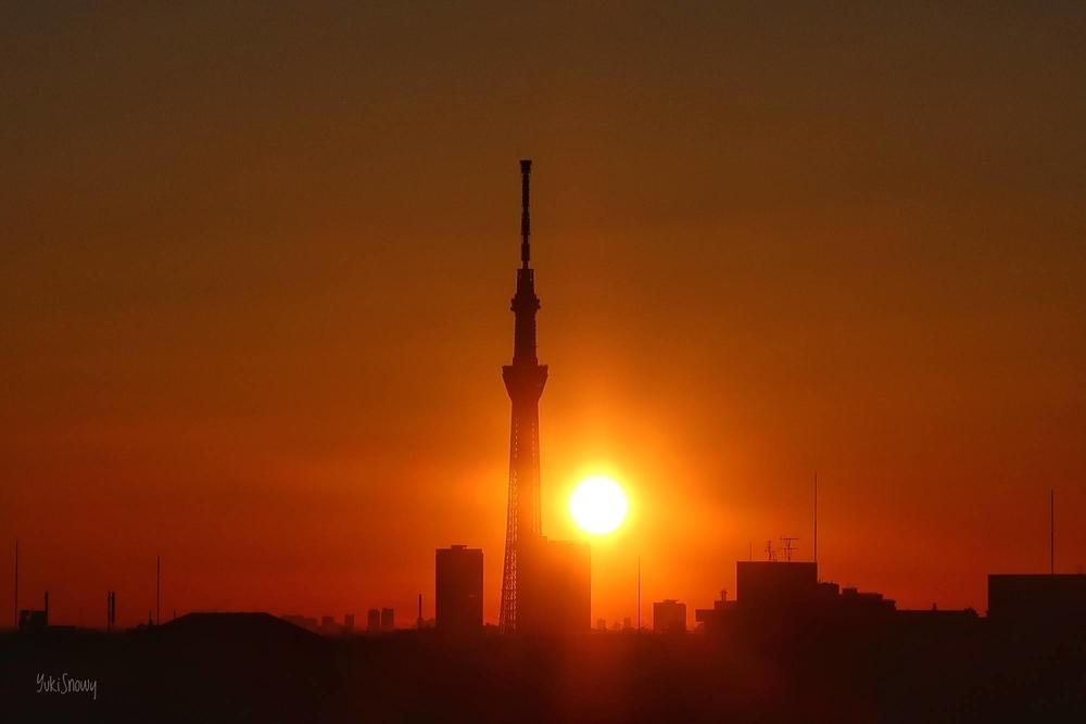 立春の日の出(2021-02-03 06:49)